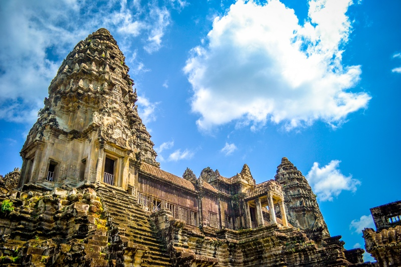 Patrimoine mondial de l'UNESCO:  Angkor Bat au Cambodge